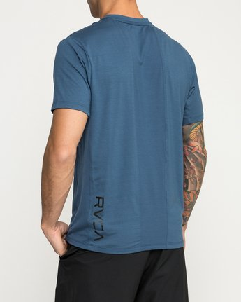 4 VA Vent Short Sleeve Top Blue V904QRVS RVCA
