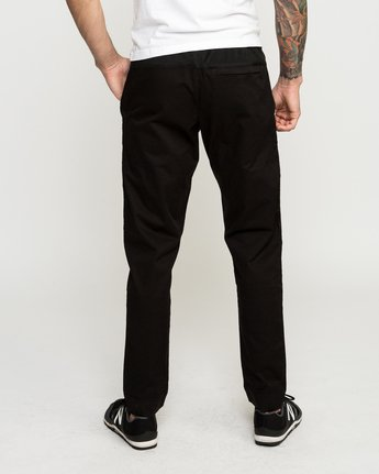 4 Vamok Woven Pant Black VE301VAM RVCA