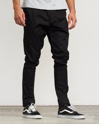 6 Vamok Woven Pant Black VE301VAM RVCA