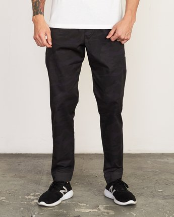 1 Vamok Woven Pant Brown VE301VAM RVCA