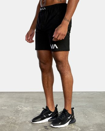 9 VA Sport Grappler Short Black VG208GRP RVCA