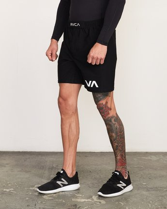 2 VA Sport Grappler Short Black VG208GRP RVCA