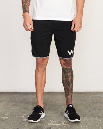 """1 VA Sport Short II 20"""" Short Black VL201SPO RVCA"""
