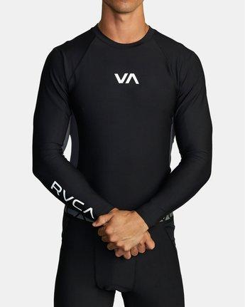 2 COMPRESSION LONG SLEEVE TOP Black VR011RCL RVCA