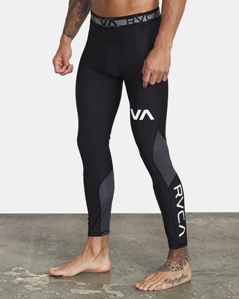 4 COMPRESSION PANT Black VR011RCP RVCA