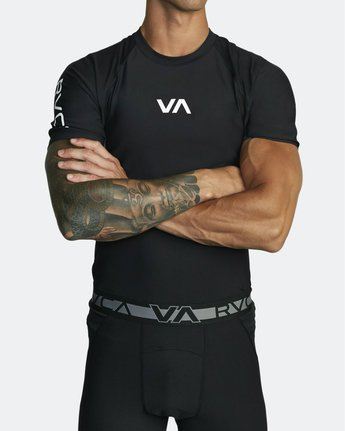 5 COMPRESSION SHORT SLEEVE TOP Black VR021RCS RVCA
