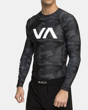 4 VA Sport Rashguard Brown VR51PRSR RVCA