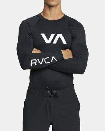 2 VA Sport Rashguard Orange VR51PRSR RVCA