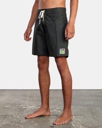 "4 Bailey Elder 18"" - Board Shorts for Men Black W1BSRVRVP1 RVCA"