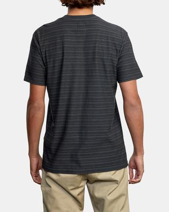 2 Texture Stripe - T-Shirt for Men Black W1KTRDRVP1 RVCA
