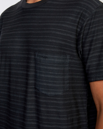 3 Texture Stripe - T-Shirt for Men Black W1KTRDRVP1 RVCA