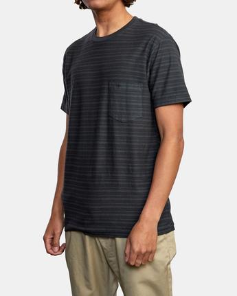 4 Texture Stripe - T-Shirt for Men Black W1KTRDRVP1 RVCA