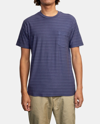 1 Texture Stripe - T-Shirt for Men  W1KTRDRVP1 RVCA