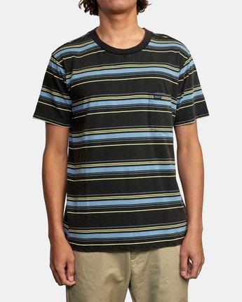 1 Bez Stripe - T-Shirt for Men Black W1KTRJRVP1 RVCA