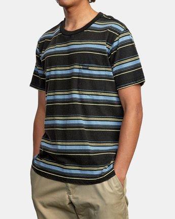 4 Bez Stripe - T-Shirt for Men Black W1KTRJRVP1 RVCA