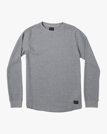 1 Recession Collection Day Shift - Long Sleeve Thermal Top for Men Grey W1KTRKRVP1 RVCA