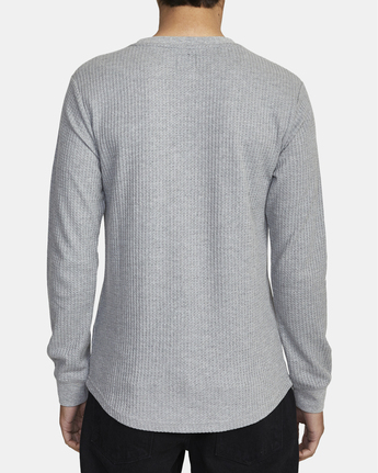 3 Recession Collection Day Shift - Long Sleeve Thermal Top for Men Grey W1KTRKRVP1 RVCA