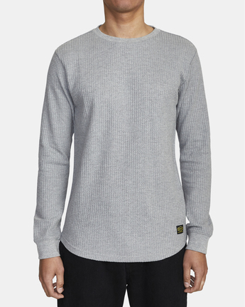 2 Recession Collection Day Shift - Long Sleeve Thermal Top for Men Grey W1KTRKRVP1 RVCA