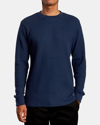 Recession Collection Day Shift - Long Sleeve Thermal Top for Men  W1KTSKRVMU