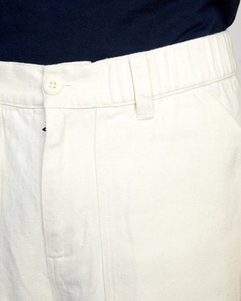 3 Neutral Hemp - Relaxed Fit Trousers Silver W1PTRDRVP1 RVCA