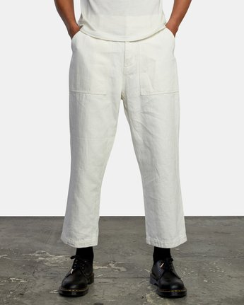 1 Neutral Hemp - Relaxed Fit Trousers Silver W1PTRDRVP1 RVCA