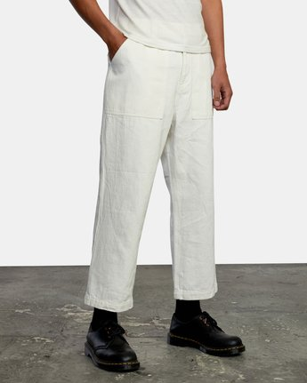 5 Neutral Hemp - Relaxed Fit Trousers Silver W1PTRDRVP1 RVCA