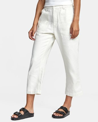 8 Neutral Hemp - Relaxed Fit Trousers Silver W1PTRDRVP1 RVCA