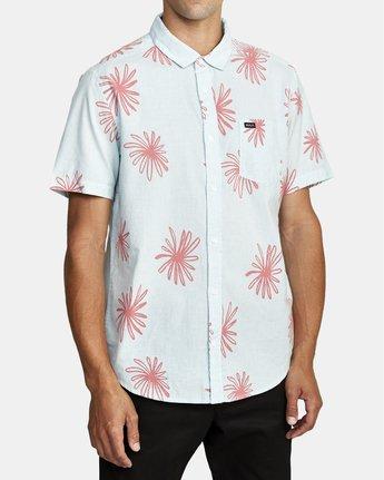 3 Whirls - Short Sleeve Shirt for Men Pink W1SHIARVP1 RVCA