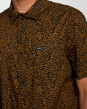 3 No Fun - Short Sleeve Shirt for Men Brown W1SHRERVP1 RVCA