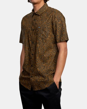4 No Fun - Short Sleeve Shirt for Men Brown W1SHRERVP1 RVCA