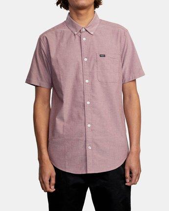 1 That'll Do - Short Sleeve Shirt for Men Red W1SHRHRVP1 RVCA