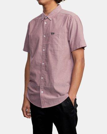 4 That'll Do - Short Sleeve Shirt for Men Red W1SHRHRVP1 RVCA