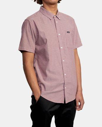 5 That'll Do - Short Sleeve Shirt for Men Red W1SHRHRVP1 RVCA