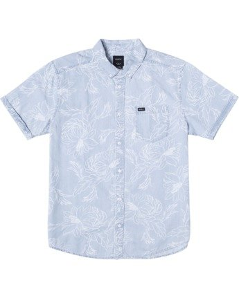 0 Hastings Floral - Short Sleeve Shirt for Men Blue W1SHRKRVP1 RVCA