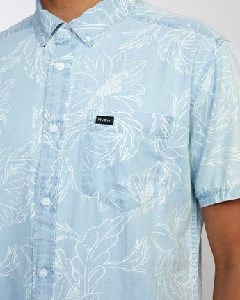 3 Hastings Floral - Short Sleeve Shirt for Men Blue W1SHRKRVP1 RVCA