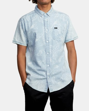 1 Hastings Floral - Short Sleeve Shirt for Men Blue W1SHRKRVP1 RVCA