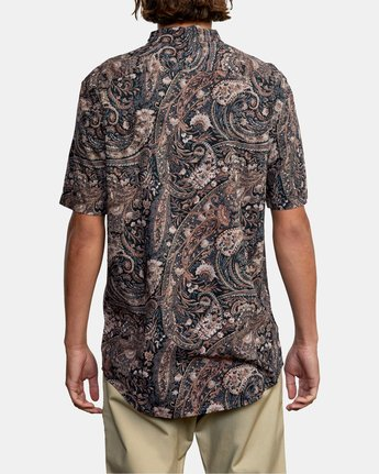 3 Tangier Paisley - Short Sleeve Shirt for Men  W1SHRTRVP1 RVCA