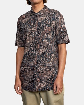 5 Tangier Paisley - Short Sleeve Shirt for Men  W1SHRTRVP1 RVCA