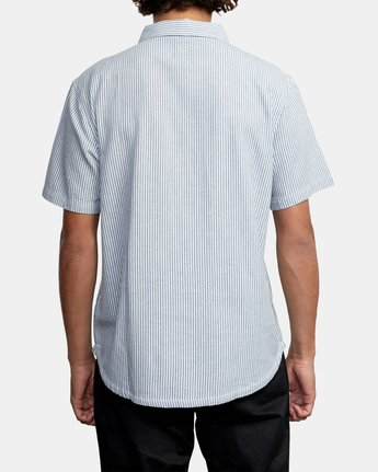 Recession Collection Day Shift Stripe - Short Sleeve Shirt for Men  W1SHRXRVP1
