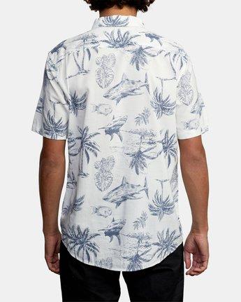 3 Panic Point - Short Sleeve Shirt for Men White W1SHSERVP1 RVCA