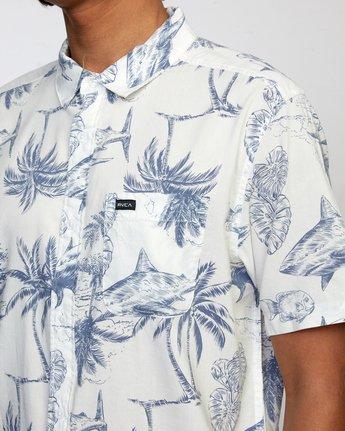 4 Panic Point - Short Sleeve Shirt for Men White W1SHSERVP1 RVCA