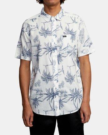 2 Panic Point - Short Sleeve Shirt for Men White W1SHSERVP1 RVCA