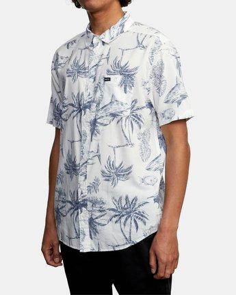 5 Panic Point - Short Sleeve Shirt for Men White W1SHSERVP1 RVCA