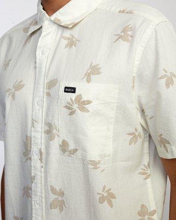 3 Endless Seersucker - Short Sleeve Shirt for Men White W1SHSFRVP1 RVCA