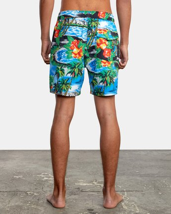 "2 VA Elastic 17"" - Swim Shorts for Men  W1VORDRVP1 RVCA"