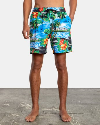 "1 VA Elastic 17"" - Swim Shorts for Men  W1VORDRVP1 RVCA"