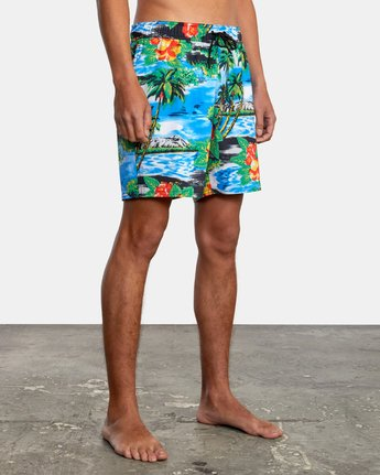 "5 VA Elastic 17"" - Swim Shorts for Men  W1VORDRVP1 RVCA"