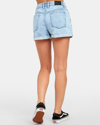3 HI ROLLER HIGH RISE DENIM SHORT White W201TRRO RVCA