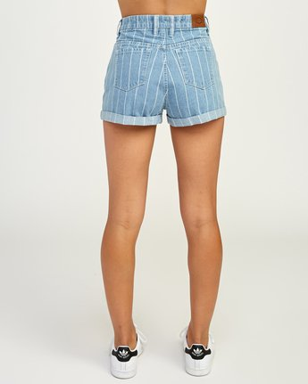 4 Hi Roller High Rise Denim Short Blue W201TRRO RVCA