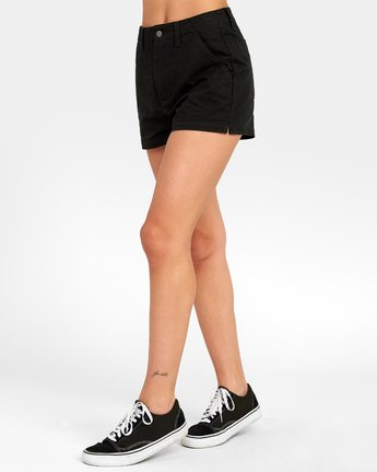 3 NO LONGER HIGH RISE SHORT Black W2021RNL RVCA